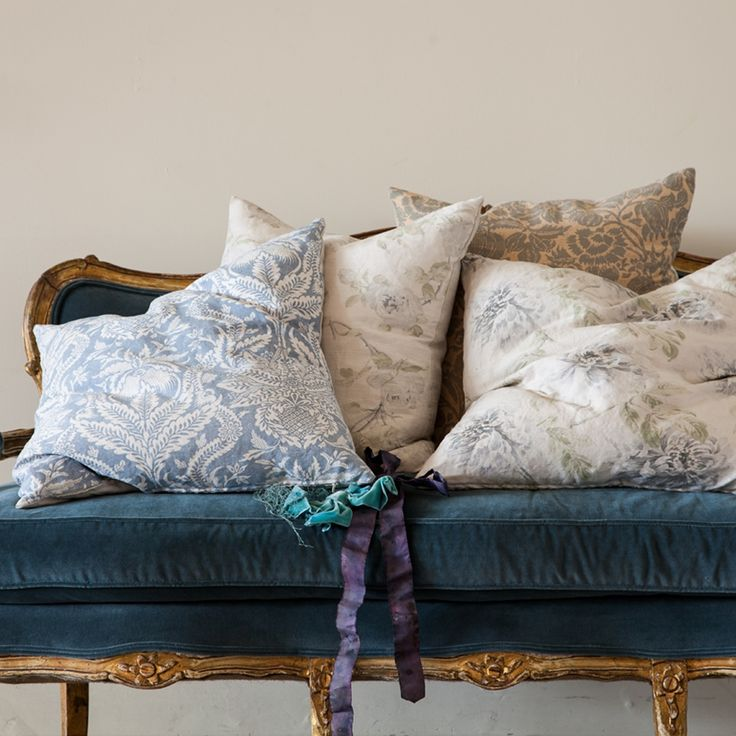 Shabby Chic Blue Pillows : Bennison Decorative Pillows ~ Rachel Ashwell collection ~ Shabby Chic Style & Inspiration # ...