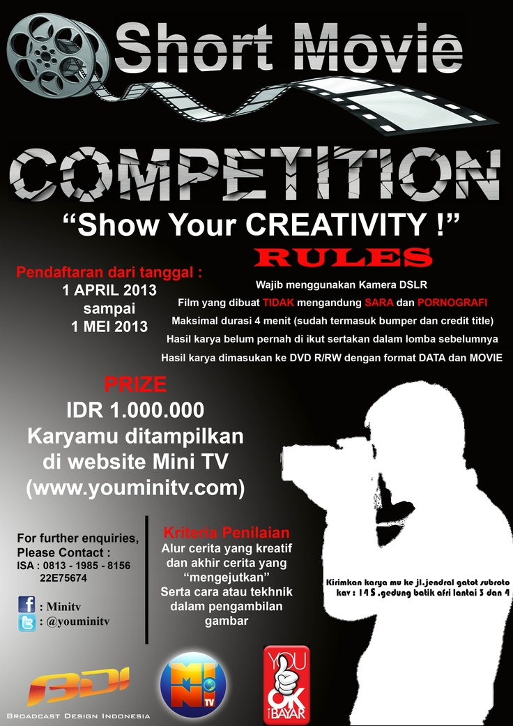 "Ikutin ""Short Movie Competition"" sekarang juga !!!"