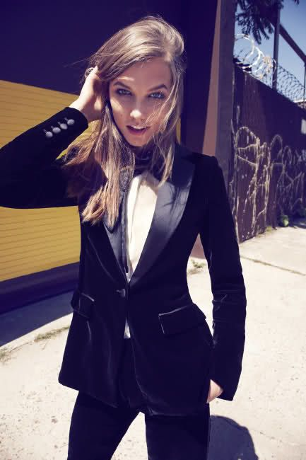 i love tailored menswear for women esp when its a velvet suit
