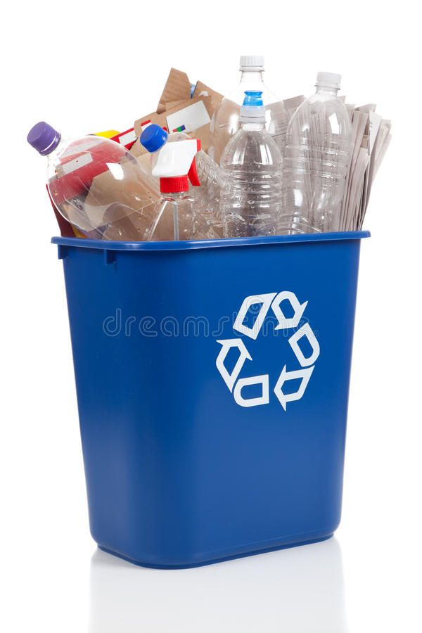 Recycle Bin An Overflowing Blue Recycle Bin Full Of Plastic Bottles Newspapers Ad Recycle Bin Full B Recycling Bins Recycling Containers Recycling