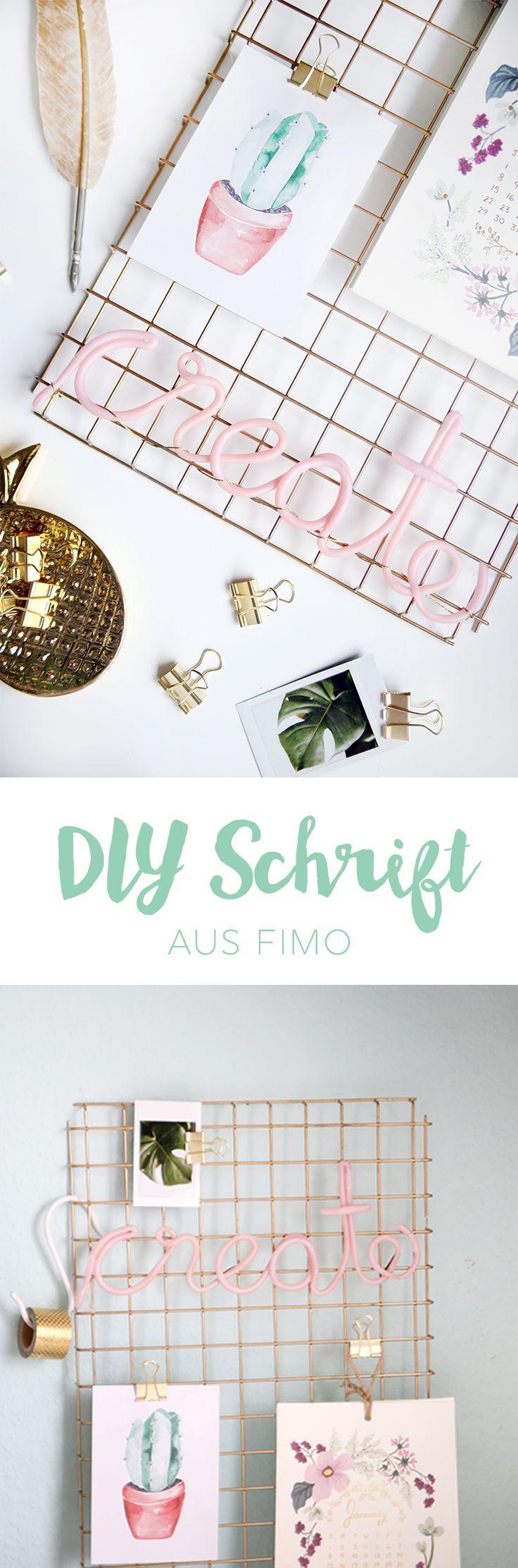 {DIY} Erstellen Sie einen Deko-Schriftzug aus Fimo   – DIY // Crafts – #aus #cra…