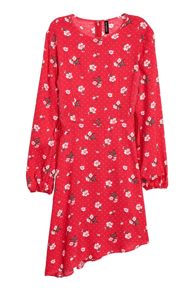 Patterned dress - Red/Floral - Ladies | H&M GB 3