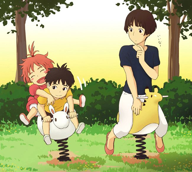 ponyo, sosuke, risa   Ghibli   Pinterest