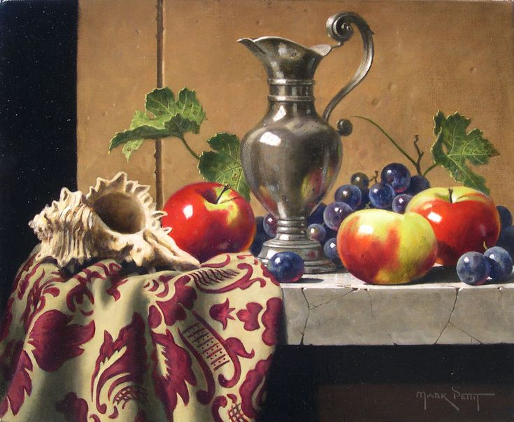 Mark Pettit (b.1959) — French Pitcher with Lady Apples (975x800)