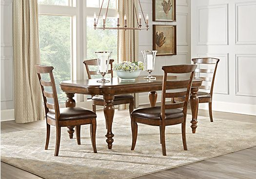picture of Cindy Crawford Home Notting Hill Cherry 5 Pc Dining Room from Dining Room Sets Furniture