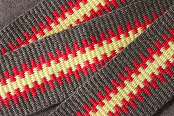 Panama Red Guitar Strap Handwoven in the USA by WeaverGuitarStraps