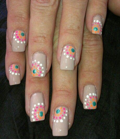 Nail art design inspired via Pinterest