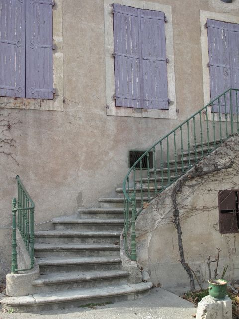 Domaine du Bosc. Wine chateau in the south of France. Stairways, ideas, stair, home, house, decoration, decor, indoor, outdoor, staircase, stears, staiwell, railing, floors, apartment, loft, studio, interior, entryway, entry.
