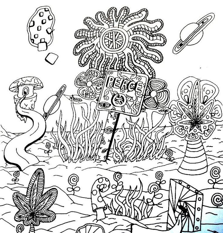 Trippy Coloring Pages Printable