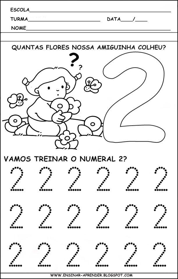 """"""" Cantinho do Educador Infantil """": ATIVIDADES PARA TREINO DA ESCRITA DOS NUMERAIS DE 1 A 5"""