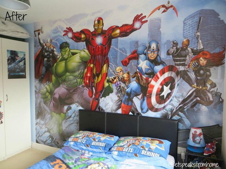 28 Teen Boy Bedding Sets With Superheroes Marvel Themed. Superhero Bedroom  Ideas Marvel Avengers