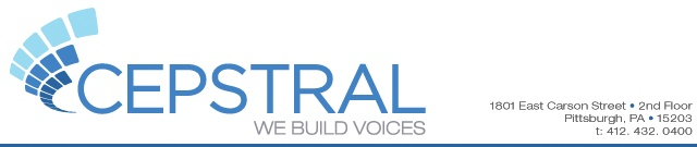Cepstral LLC is a global leader and innovator in Text-To-Speech (TTS). Cepstral's speech synthesis technology makes desktop, mobile, server and online applications talk. Recruiting: Computer Science, Computer Engineering, Information Science, Intelligent Systems, Mathematics, Physics