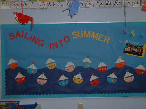 Sailing Into Summer Bulletin Board Suggestion
