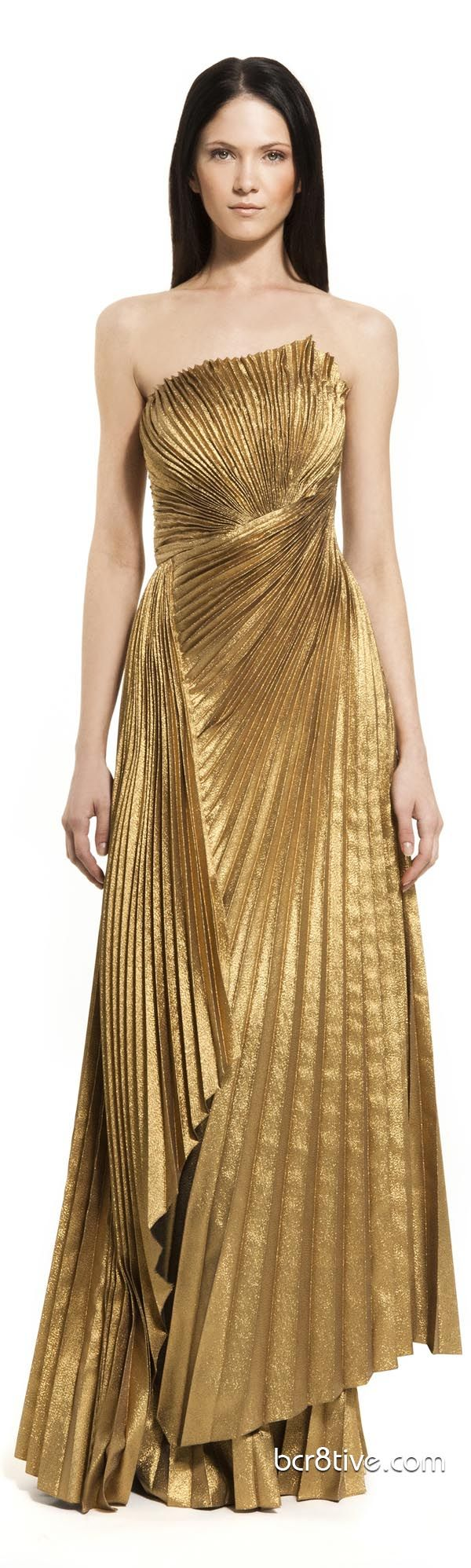 Carlos Miele PRE Spring Summer 2013 Ready To Wear Collection reminds me of Elizabeth Taylor's gold dress in Cleopatra