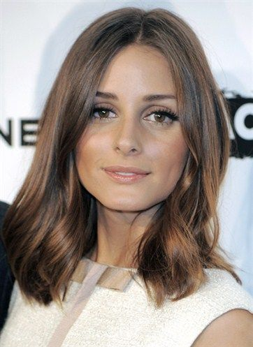 Olivia Palermo's mid length hair looks thick and health perfect to all hair types.