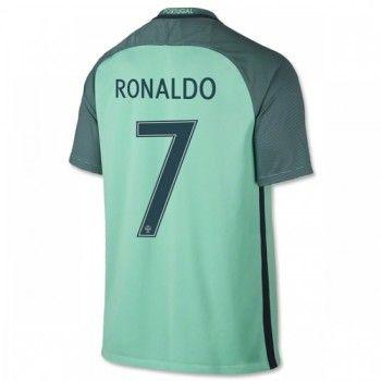 Portugal 2016 Cristiano Ronaldo 7 Bortatröja Kortärmad   #Billiga  #fotbollströjor