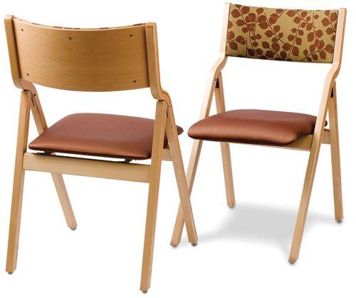 Padded Wood Folding Chairs