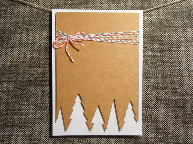 Weihnachtskarte Tannenwald