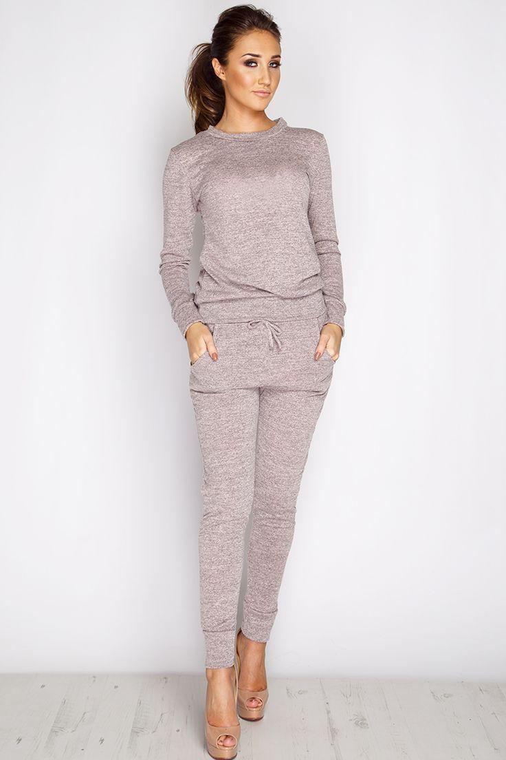 Megan McKenna Nude Loungewear Set at misspap.co.uk