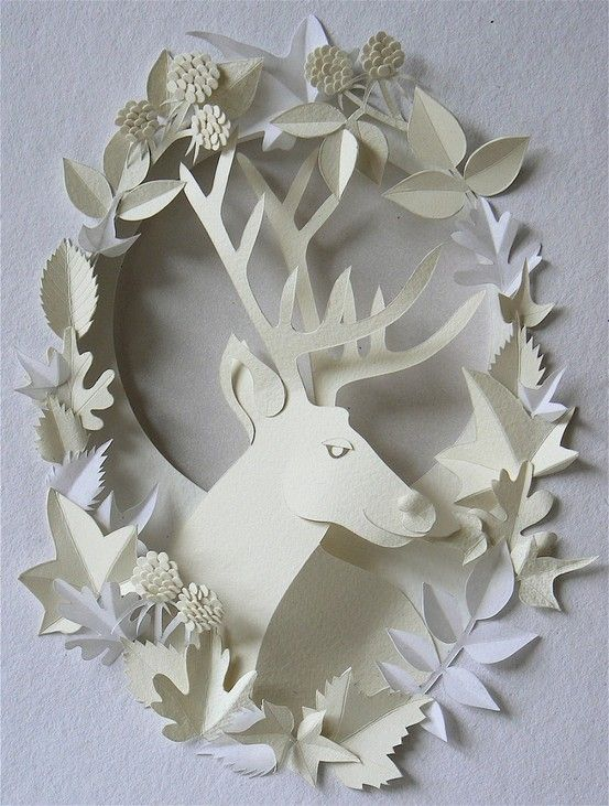 #papercraft #stunning #papercutting stag. simply paper love...