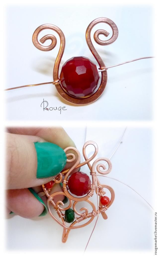 "Master Class: Earrings ""Drop flower honey."" Variation in red - Fair Masters - handmade, handmade"