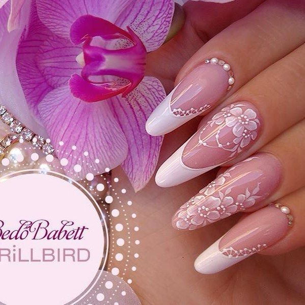 .Nail Designs with Floral and French TIp Nail Designs.