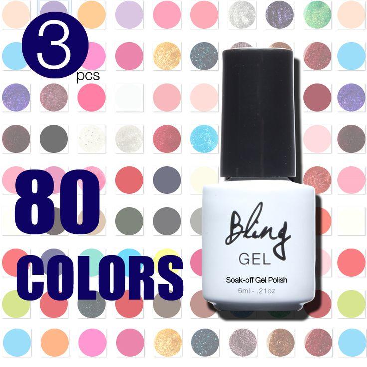 Verão de Bling 80 cores UV unhas de Gel Gel unha polonês 6 ML alishoppbrasil