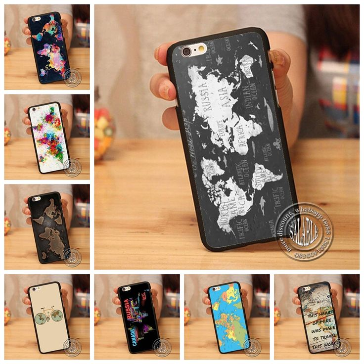 World Map With Country Name Phone Case Cover for iPhone 4 4S 5 5S SE 5C 6 6S Plus 4.7 5.5 inch