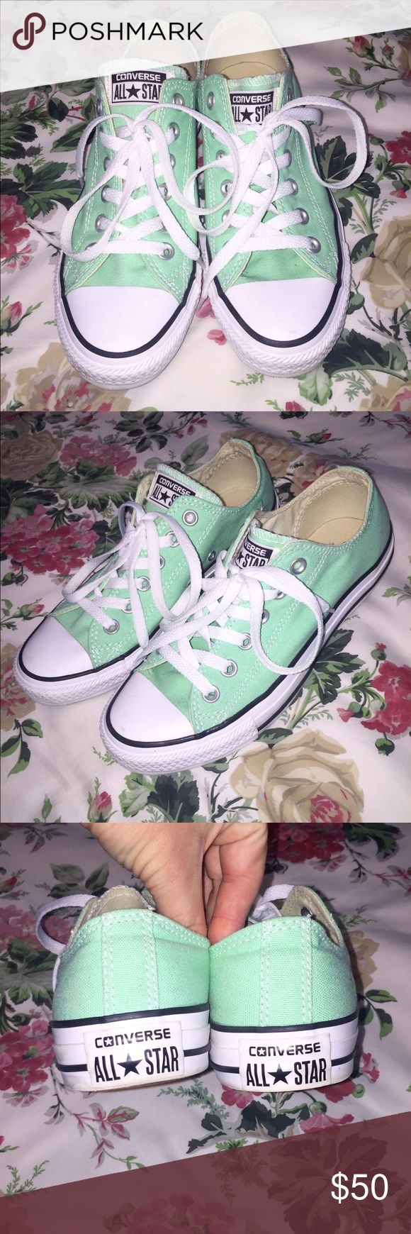 Mint Converse, like new!  I have worn these only once or twice, LOVE them but just a little bit too big. Converse Shoes Sneakers