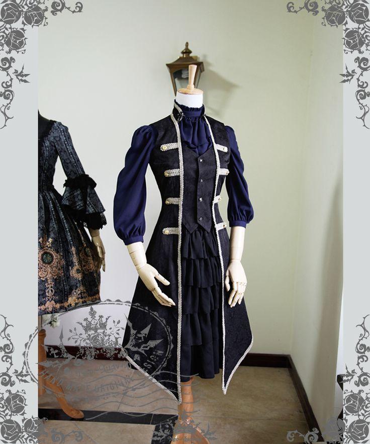 fanplusfriend - Rococo Lolita Victorian Elegant Gothic Unisex False 2Pcs Long Vest Jacket*2colors, $96.05 (http://www.fanplusfriend.com/rococo-lolita-victorian-elegant-gothic-unisex-false-2pcs-long-vest-jacket-2colors/)