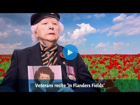Veterans recite 'In Flanders Fields' - YouTube