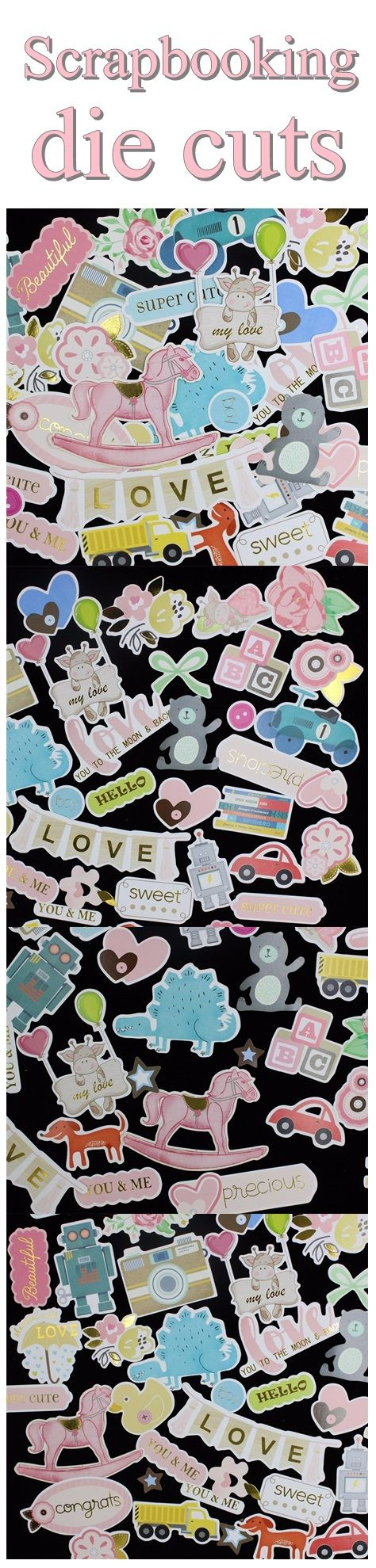 Scrapbook ideas cheap - Cheap Craft Supplies Scrapbooking Baby Die Cuts Card Making Embellishments