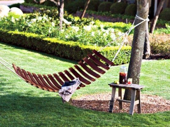 #hammock of wine barrels