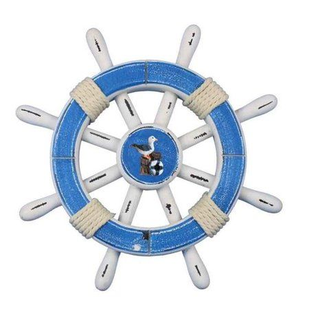 Handcrafted Nautical Decor Rustic Ship Wheel Wall D cor ...