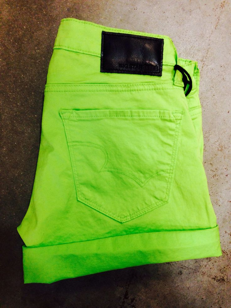 Big Star Shorts - Lime Green