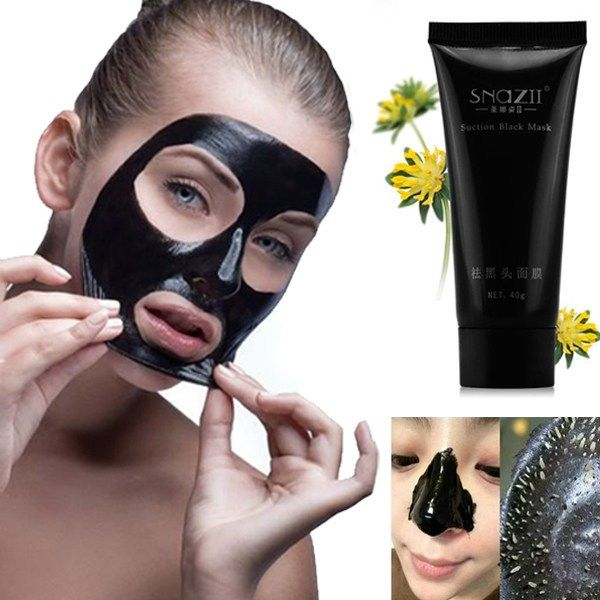 Zuig Zwart Maskers Diepe Reiniging Zuiverende Verwijderen Mee-eter Neus Huidverzorging Masker Zuig Whitening Modder Crème Zwart Hoofd Pilaten