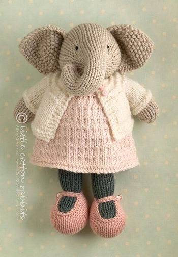 Adorable elephant by Little Cotton Rabbits