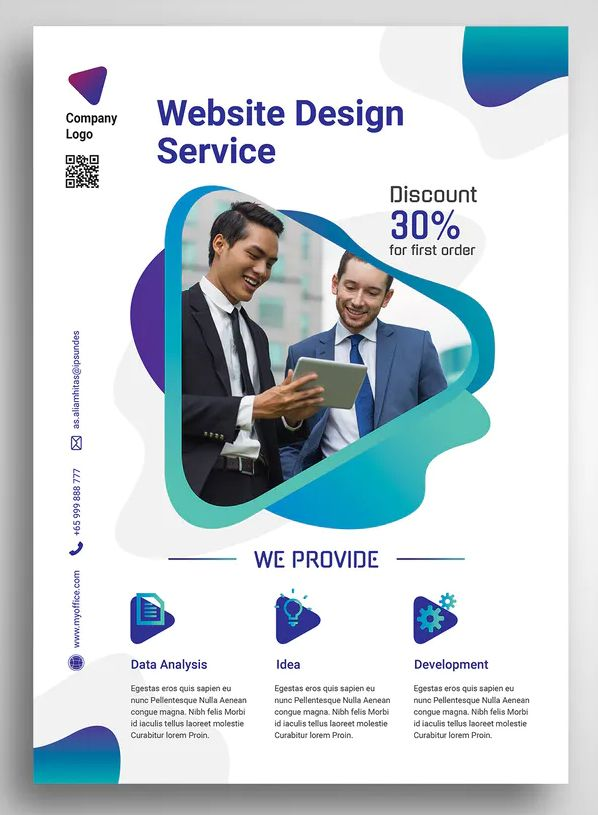 Web Design Agency Promo Flyer Design Psd In 2020 Web Design Agency Web Layout Design Graphic Design Flyer
