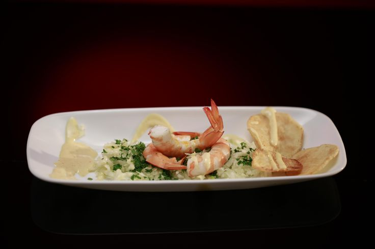 Deb and Rick's Prawn, Fennel and Potato Crisp with Mustard Dressing from season 5 of my kitchen rules: http://gustotv.com/recipes/appetizer/prawn-fennel-potato-crisp-mustard-dressing/