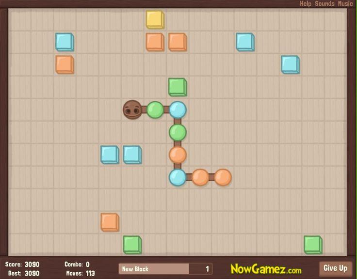 """Pamiętasz grę """"Wąż"""" na telefony? Teraz masz okazję zagrać w nieco ciekawszą wariację! http://www.ubieranki.eu/gry/3783/drewniany-robaczek.html"""