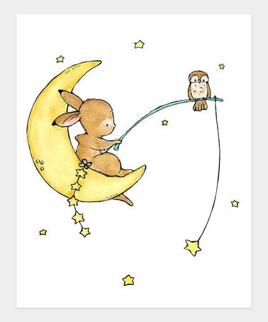 Take a look at this Starfishing Bunny Print by trafalgar's square on #zulily today!