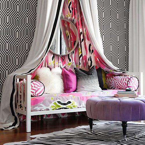 Window Daybed in a Teenage Girl's Bedroom by Kriste Michelini