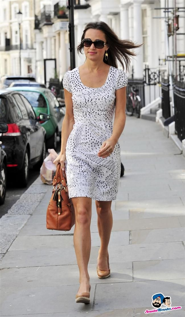 Pippa Middleton Sundress And Brown Bag My Style