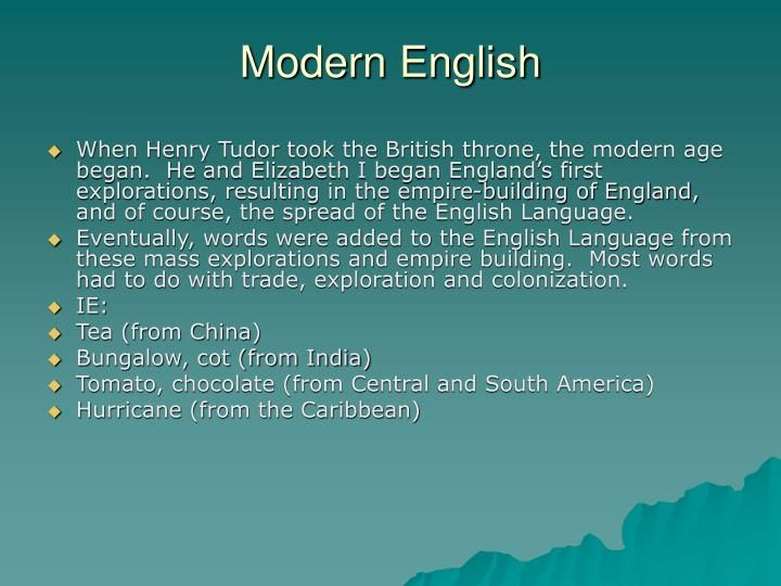 how to speak old english language