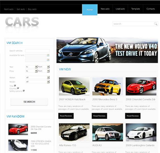 8 Best 8 Of The Best Joomla Templates For Car Dealerships
