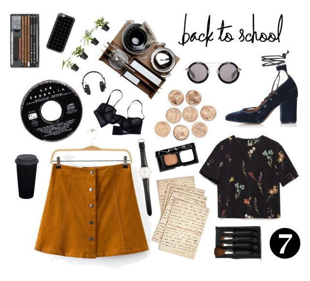 Back to school by afitabiyigun on Polyvore featuring polyvore, fashion, style, Zara, Eres, Topshop, Yohji Yamamoto, Casetify, Ole Mathiesen, The Body Shop, NARS Cosmetics, Malle W. Trousseau, Master & Dynamic, Cultura and clothing