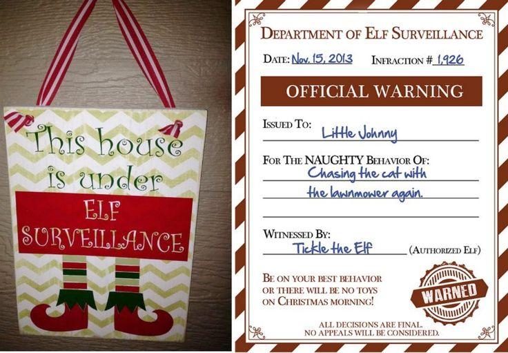 Official Elf Warning Elf Surveillance