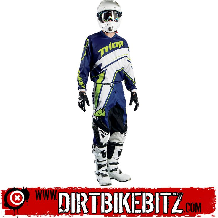 2014 Thor Phase Motocross Kit Combo - Stripe Navy - 2014 Thor Motocross Kit Combos - 2014 Thor Motocross Kit - 2014 Motocross