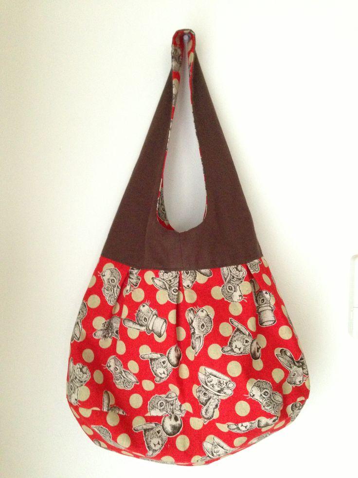 教室で作ったリバーシブルなバッグ*✧₊✪͡◡ू✪͡