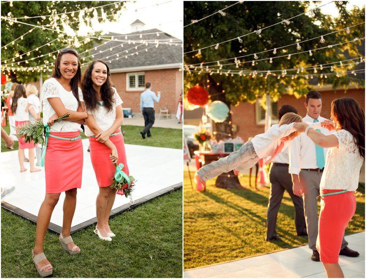 Bright And Colorful Backyard Wedding Country Bridesmaid DressesWedding